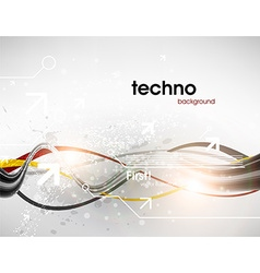 Silver Techno Background vector image