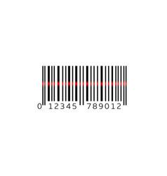 simple bar code vector image