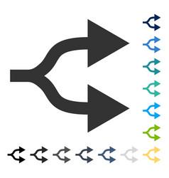 Split arrows right icon vector