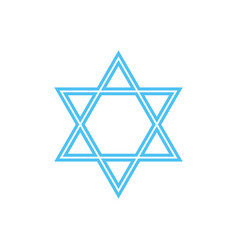 Star of david - symbol of judaism vector