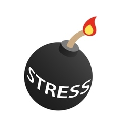 Stress bomb icon isometric 3d style vector