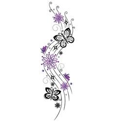 Summer floral element vector image