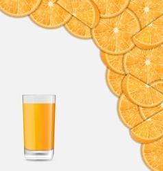 Sweet Healthy Background with Sliced of Oranges vector