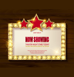 theater sign or cinema sign vector image