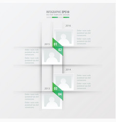 Timeline design green gradient color vector