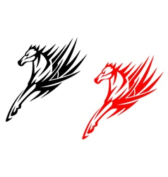 Tribal horses for tattoo design vector image vector image