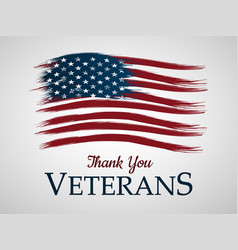 veterans day background thank you vector image