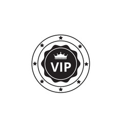 vip label or rounded certification emblem graphic vector image
