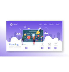 workflow management concept landing page vector image