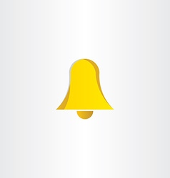 Yellow ringing bell icon vector