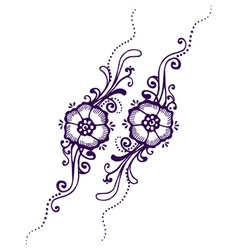 Floral Paisley Henna vector image