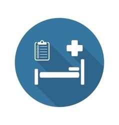 Hospital Care Icon Flat Design vector image