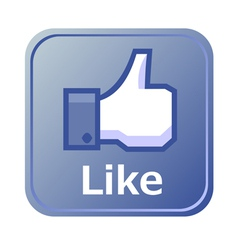 like button vector image vector image
