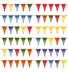 triangle bunting vector image vector image