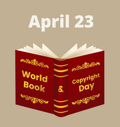 World book and copyright day vector