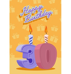 30 years celebration 30nd happy birthday vector image vector image