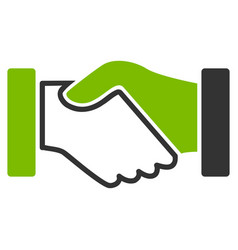 acquisition handshake flat icon vector image vector image