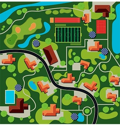 city plan vector image vector image