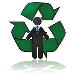 Employee recycling vector image vector image