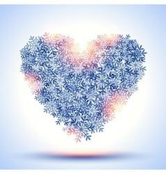 Frozen heart vector image vector image