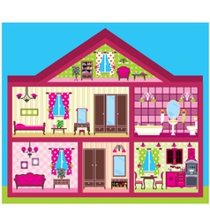 House for the girl in a cut vector image