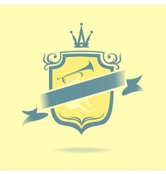 Musical emblem vector image vector image