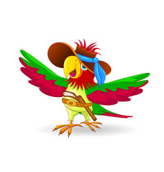 parrot the pirate vector image