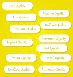 Quality Buttons 2 vector image vector image
