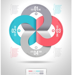 Abstract infographics template design vector image