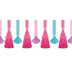 Elegant colorful decorative tassels and vector