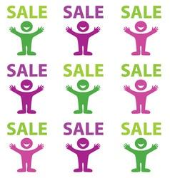 happy sale vector image vector image
