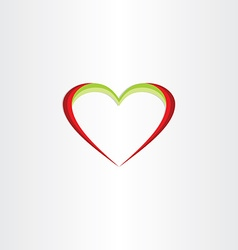 red green heart icon vector image vector image