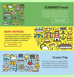 summer travel and sea cruise vacation web banners vector image vector image