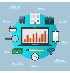 Business analytics vector image