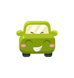 Happy Green Car Emoji vector image vector image