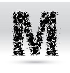 Letter M formed by inkblots vector image vector image