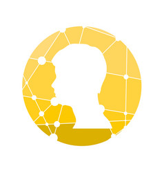 profile of the head of a man vector image