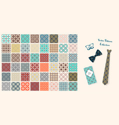 seamless fabric patterns vector image vector image