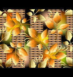 Abstract autumn leaves seamless pattern modern vector