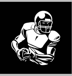 American football player bring ball vector