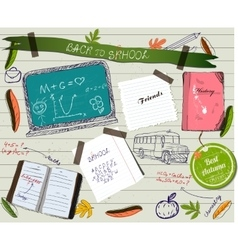 Back to school scrapbooking poster vector image