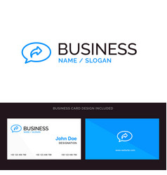 Basic chat arrow right blue business logo and vector