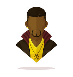 Black men avatar vector