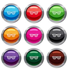black pinhole glasses set 9 collection vector image