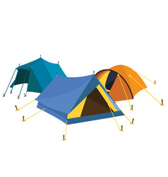 Blue yellow tents vector