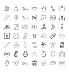 Body icons vector