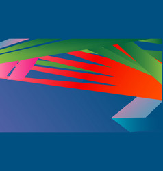 bright neon pattern geometric shapes and lines vector image