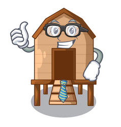 Businessman chiken coop isolated on a mascot vector