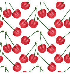cherry seamless pattern good for textile vector image