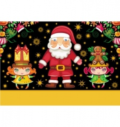 Christmas card series vector image